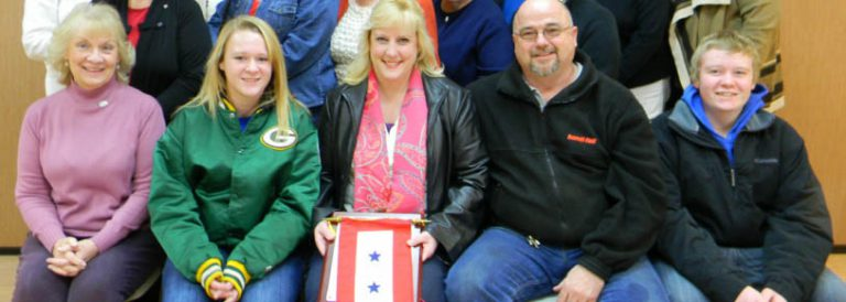 Family receiving Blue Star Banner