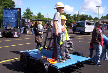 Kids at McHenry Township Touch a Truck event